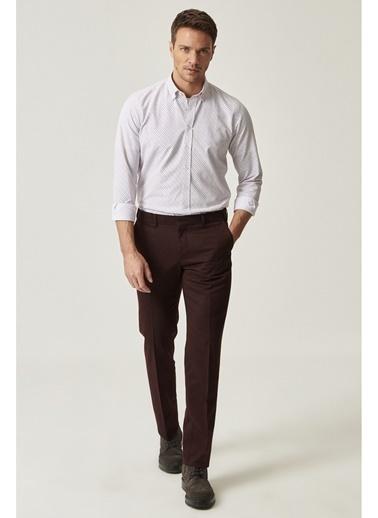 Altınyıldız Classics Slim Fit Kumaş Pantolon Bordo